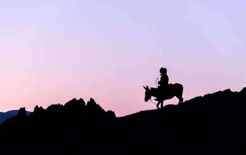 Photographie Au petit matin dans les montagnes du Kirgisthan
