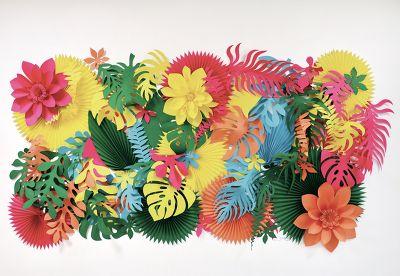 fresque papier tropicale