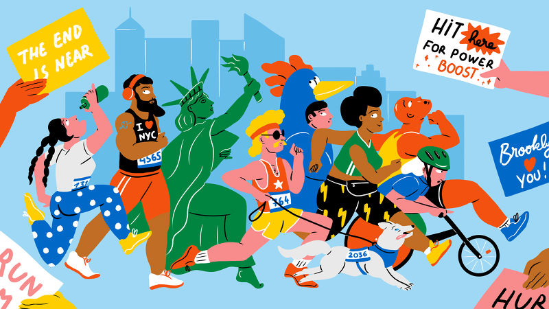 illustration NYC marathon