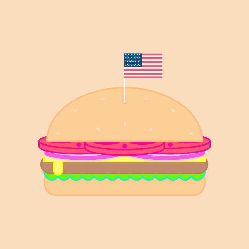 illustration cuisine hamburger
