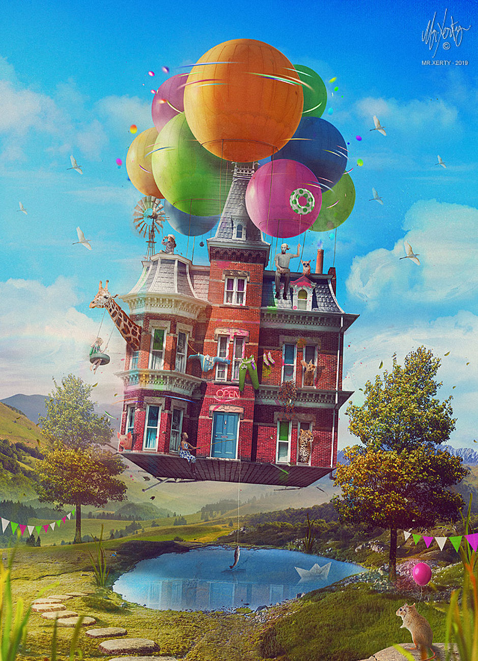 My House - In the middle of the sky