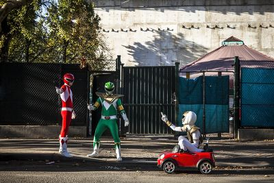 Les Power Rangers s'amusent
