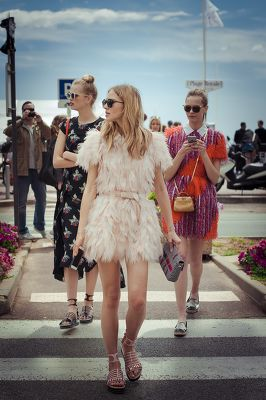 The Fendi girls, Cannes 2015
