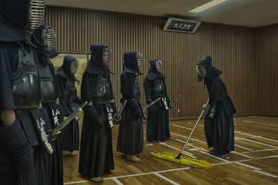 JAPAN - KENDO TRAINING IN A SENIOR HIGH SCHOOL IN KYOTO