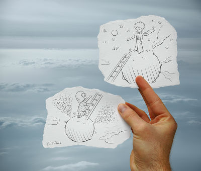 Pencil vs Camera - Le petit Prince, Ben Heine