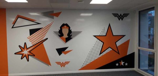 Fresque POP CULTURE Wonder Woman